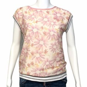 Marc Cain Sports Floral Cotton/Silk Top